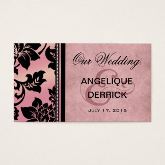 Fleur de Paris Wedding Website | pink Business Card