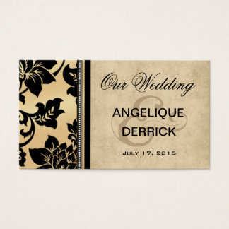 Fleur de Paris Wedding Website | sand Business Card