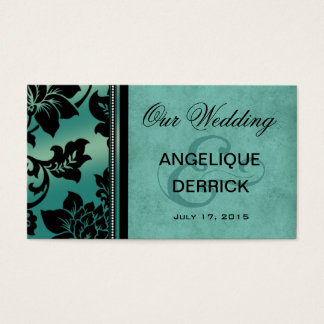 Fleur de Paris Wedding Website | teal Business Card