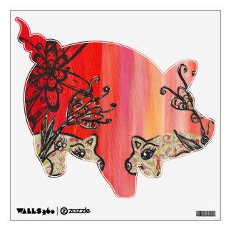 Fleur de Pig Wall Decals