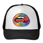 Fleur De Rainbow Licking Lips Trucker Hat