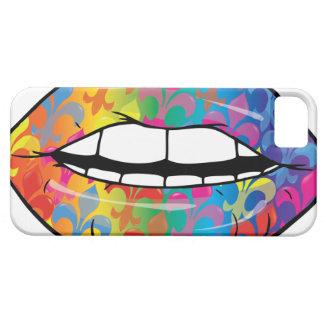 Fleur De Rainbow Lips iPhone 5 Fundas