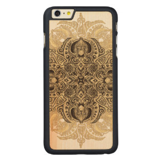 Fleur de Swirl Carved Maple iPhone 6 Plus Slim Case