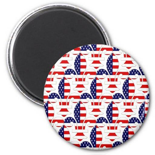 Fleur de USA 2 Inch Round Magnet