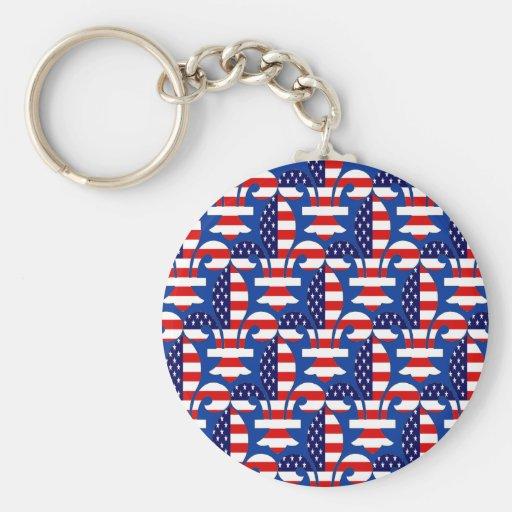 Fleur de USA Key Chain