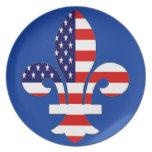Fleur de USA plate