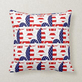 Fleur de USA Throw Pillow
