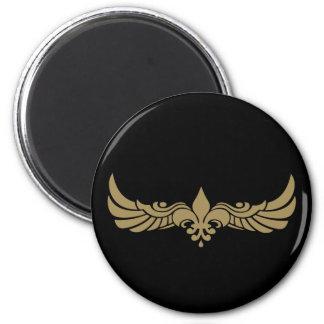 Fleur de Wings 2 Inch Round Magnet