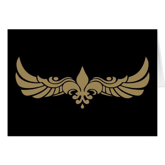 Fleur de Wings Card