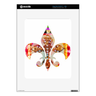Fleur di lis Flowers Floral Jewel Pattern Decals For The iPad