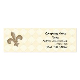 Fleur Di Lis Profile Card Mini Business Card