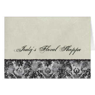 Fleur di Lys Damask Black Correspondence Notes Stationery Note Card