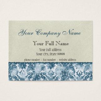 Fleur di Lys Damask Blue Business Cards