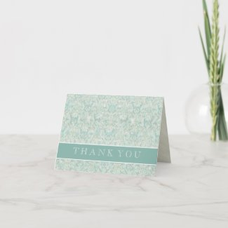 Fleur di Lys Damask Correspondence Note Cards card