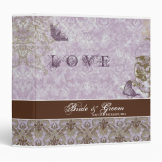 Fleur di Lys Damask Lavender Lilac Wedding Binder