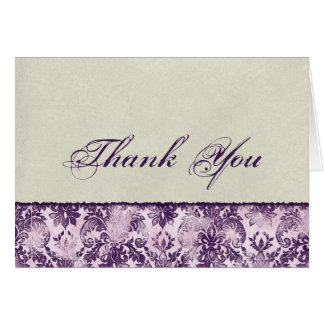 Fleur di Lys Damask Lilac Thank You Notes