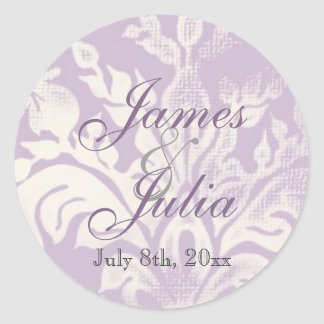 Fleur di Lys Damask - Lilac Wedding Seal