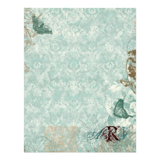 Fleur di Lys Damask - Monogrammed Scrapbook pages Letterhead