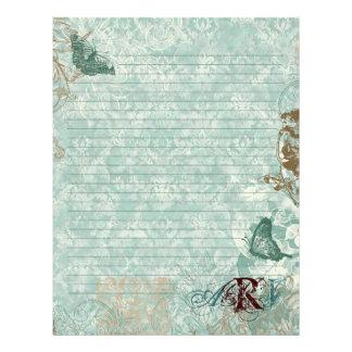 Fleur di Lys Damask - Monogrammed Stationery Letterhead