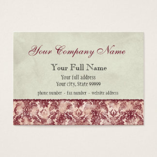 Fleur di Lys Damask Red Business Cards