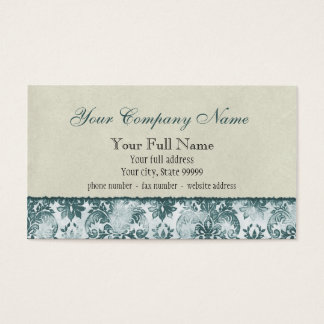 Fleur di Lys Damask Slate Blue Business Cards