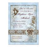 "Fleur di Lys Damask vs2 - Bridal Shower Invitation 5"" X 7"" Invitation Card"