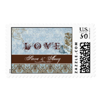Fleur di Lys Damask - Wedding, Love Postage