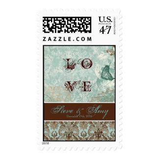 Fleur di Lys Damask - Wedding, Love Postage