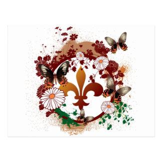 Fleur elegante postales