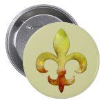 Fleur Faux Stone 4 Pinback Button