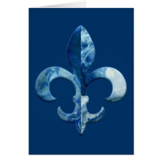 Fleur Faux Stone 5 Card