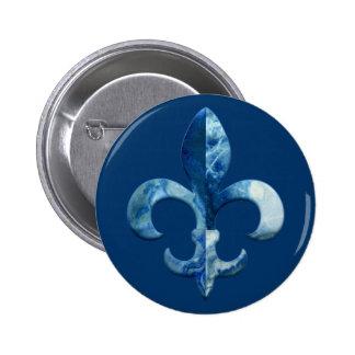 Fleur Faux Stone 5 Pinback Button