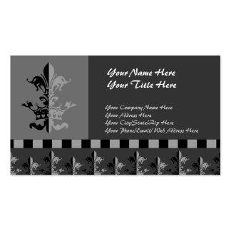Fleur Heart Crown - Black Business Card