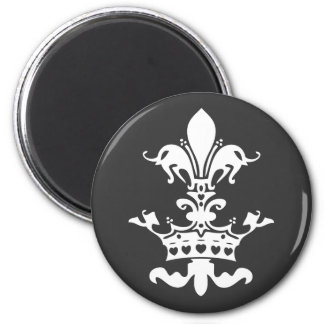 Fleur Heart Crown - Black Fridge Magnet