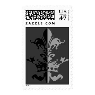 Fleur Heart Crown - Black Postage