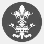 Fleur Heart Crown - Black Sticker