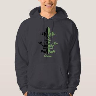 Fleur Heart Crown - Green Hoodie