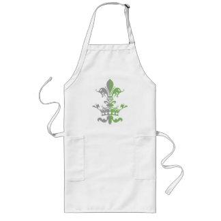 Fleur Heart Crown - Green Long Apron