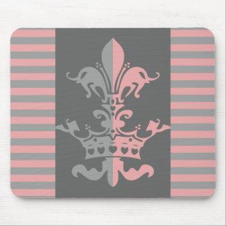 Fleur Heart Crown - Pink Mouse Pad