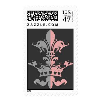 Fleur Heart Crown - Pink Postage