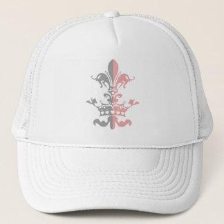 Fleur Heart Crown - Pink Trucker Hat