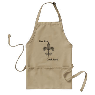 fleur, Live free, Cook hard, apron - Customized