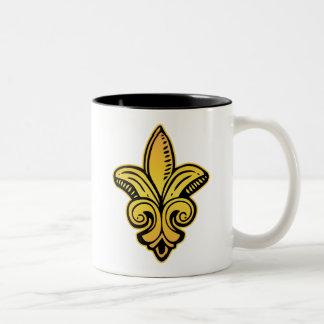 Fleur Medieval - Gold Two-Tone Coffee Mug
