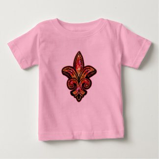 Fleur Medieval - Red Baby T-Shirt