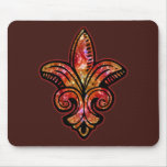 Fleur Medieval - Red Mouse Pads