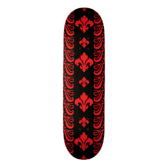 Fleur Stripe 1 Red Skateboard Deck