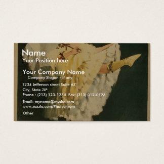 Fleurette, 'Joseph Hart Vaudeville Co.' Retro Thea Business Card