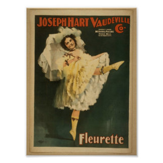 """Fleurette, """"vodevil Co del ciervo de José. """" Thea  Póster"""
