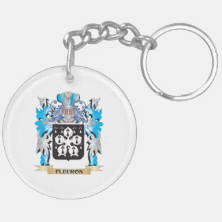 Fleuron Coat of Arms - Family Crest Double-Sided Round Acrylic Keychain