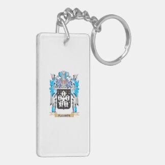 Fleuron Coat of Arms - Family Crest Double-Sided Rectangular Acrylic Keychain
